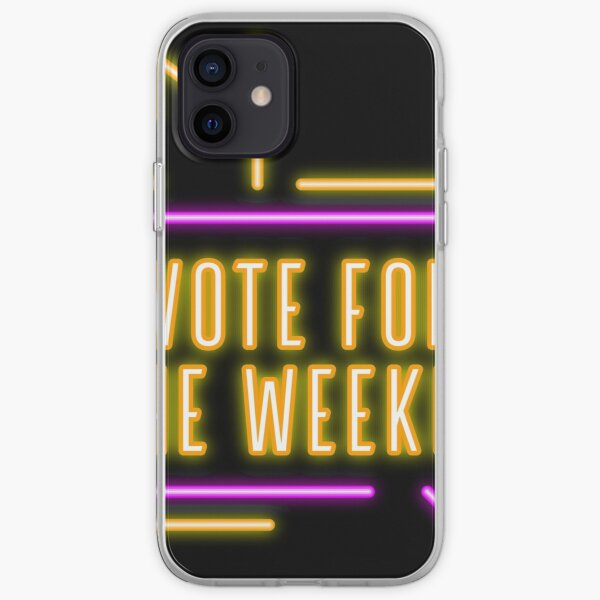 Vote For The Weeknd 2020 USA Presidential Election Purple Yellow Neon iPhone Soft Case RB3006 product Offical Mac Miller Merch