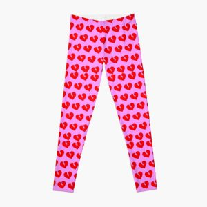Red Heartless Pattern Leggings RB3006 product Offical Mac Miller Merch