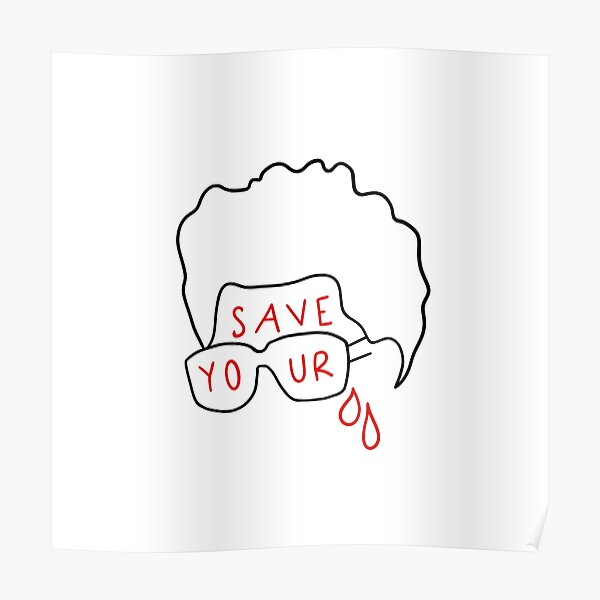 """The Weeknd """"Save Your Tears"""" (sticker and more) Poster RB3006 product Offical Mac Miller Merch"""