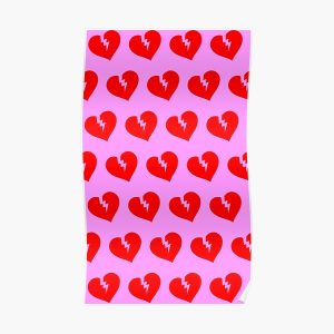 Red Heartless Pattern Poster RB3006 product Offical Mac Miller Merch