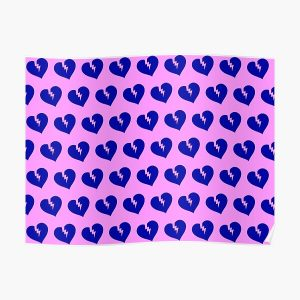 Blue Heartless Pattern Poster RB3006 product Offical Mac Miller Merch