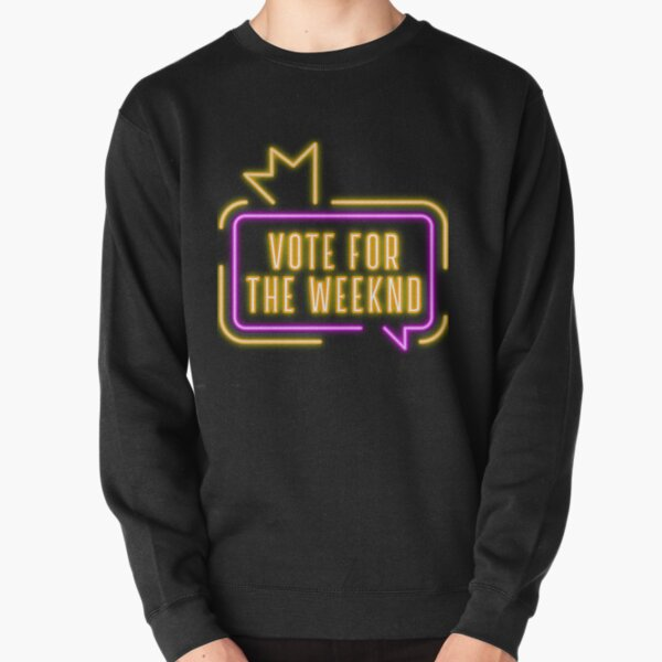 Vote For The Weeknd 2020 USA Presidential Election Purple Yellow Neon Pullover Sweatshirt RB3006 product Offical Mac Miller Merch