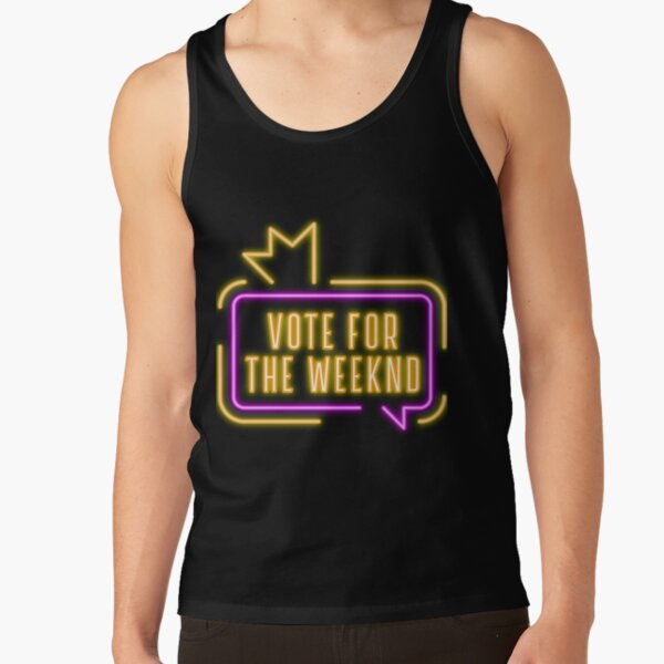 Vote For The Weeknd 2020 USA Presidential Election Purple Yellow Neon Tank Top RB3006 product Offical Mac Miller Merch