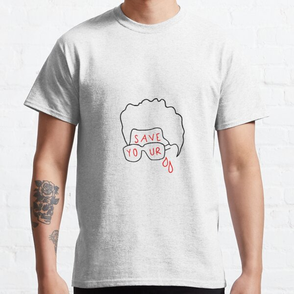 """The Weeknd """"Save Your Tears"""" (sticker and more) Classic T-Shirt RB3006 product Offical Mac Miller Merch"""