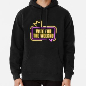 Vote For The Weeknd 2020 USA Presidential Election Purple Yellow Neon Pullover Hoodie RB3006 product Offical Mac Miller Merch