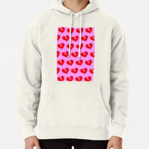 Red Heartless Pattern Pullover Hoodie RB3006 product Offical Mac Miller Merch