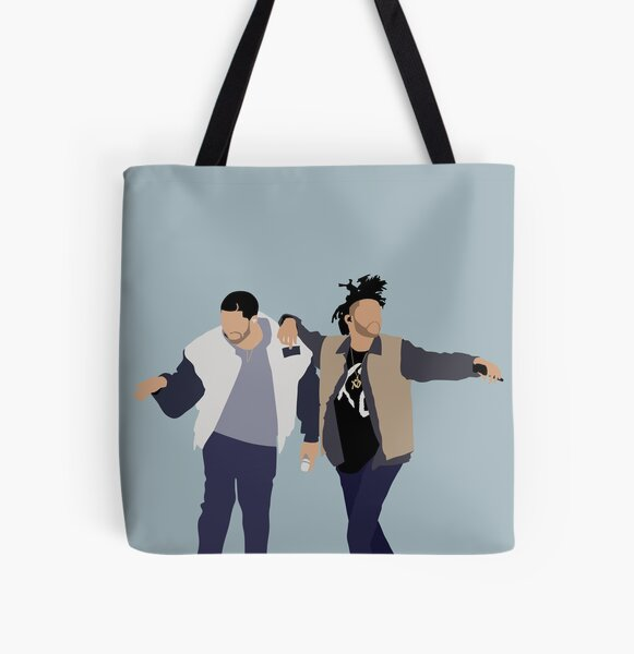 Drake + The Weeknd All Over Print Tote Bag RB3006 product Offical Mac Miller Merch