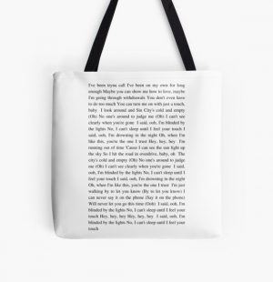 Blinding Lights - The Weeknd All Over Print Tote Bag RB3006 product Offical Mac Miller Merch