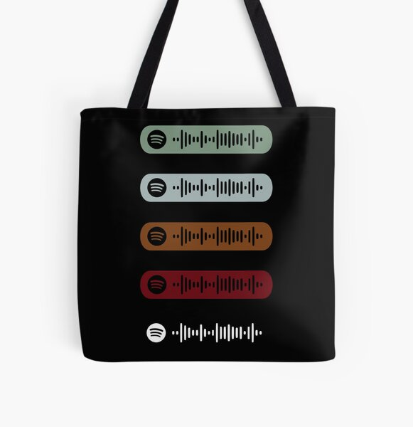 Blinding Lights by The Weeknd Spotify Scan Sticker Pack All Over Print Tote Bag RB3006 product Offical Mac Miller Merch