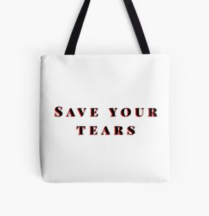 Save your tears The weeknd All Over Print Tote Bag RB3006 product Offical Mac Miller Merch