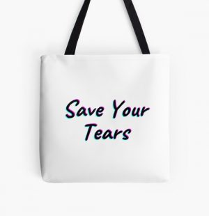 The Weeknd Save Your Tears All Over Print Tote Bag RB3006 product Offical Mac Miller Merch