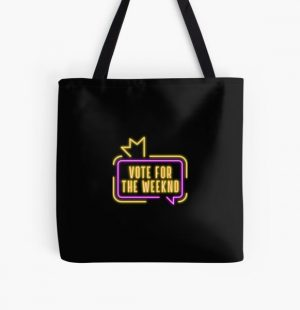 Vote For The Weeknd 2020 USA Presidential Election Purple Yellow Neon All Over Print Tote Bag RB3006 product Offical Mac Miller Merch