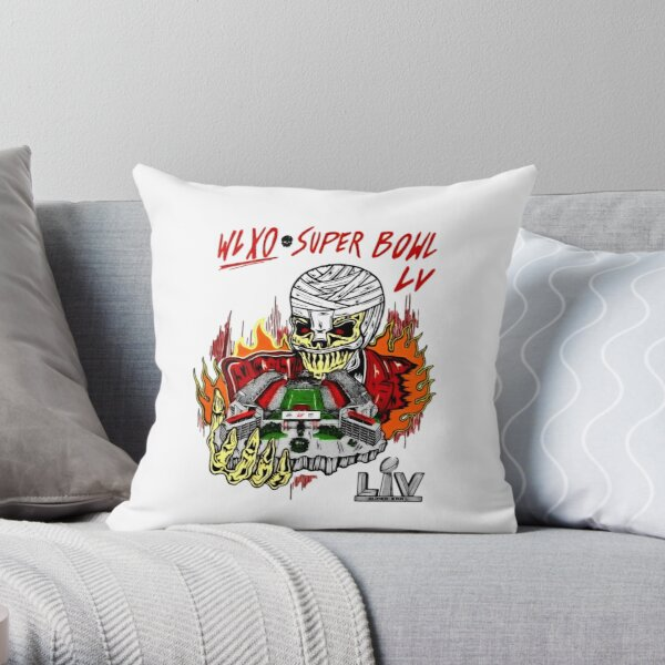 The Weeknd Super Bowl LV Halftime Show Art Throw Pillow RB3006 product Offical Mac Miller Merch