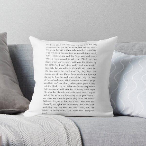 Blinding Lights - The Weeknd Throw Pillow RB3006 product Offical Mac Miller Merch
