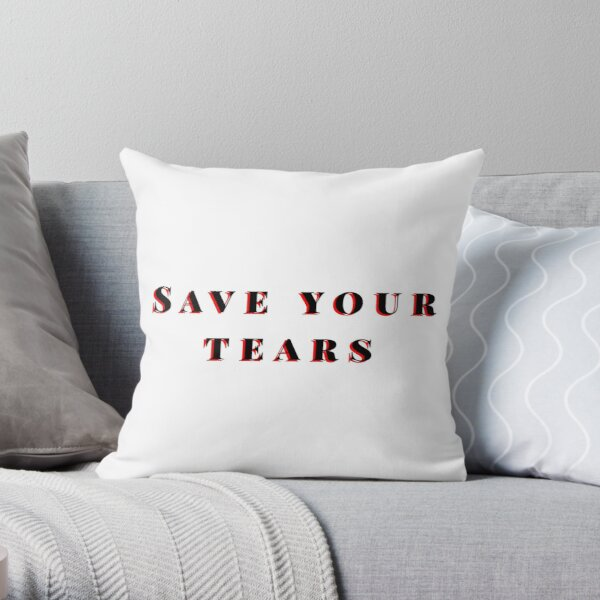 Save your tears The weeknd Throw Pillow RB3006 product Offical Mac Miller Merch