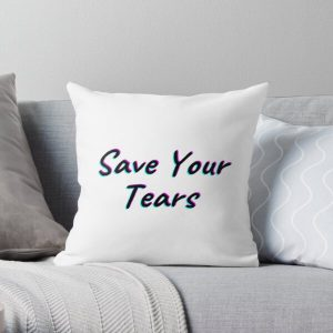 The Weeknd Save Your Tears Throw Pillow RB3006 product Offical Mac Miller Merch