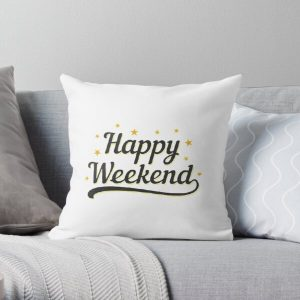 Happy Weekend Happy Friday! Let the weekend begin The Best Weeknd Throw Pillow RB3006 product Offical Mac Miller Merch