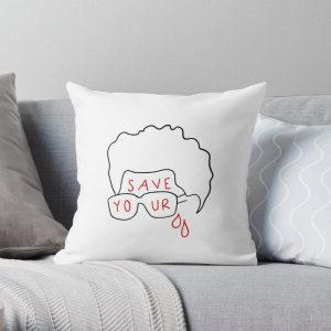 """The Weeknd """"Save Your Tears"""" (sticker and more) Throw Pillow RB3006 product Offical Mac Miller Merch"""