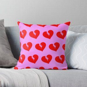 Red Heartless Pattern Throw Pillow RB3006 product Offical Mac Miller Merch