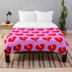 Red Heartless Pattern Throw Blanket RB3006 product Offical Mac Miller Merch
