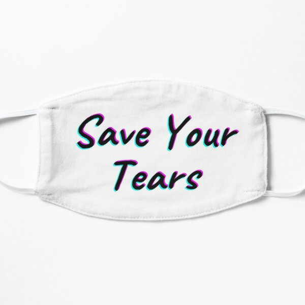 The Weeknd Save Your Tears Flat Mask RB3006 product Offical Mac Miller Merch