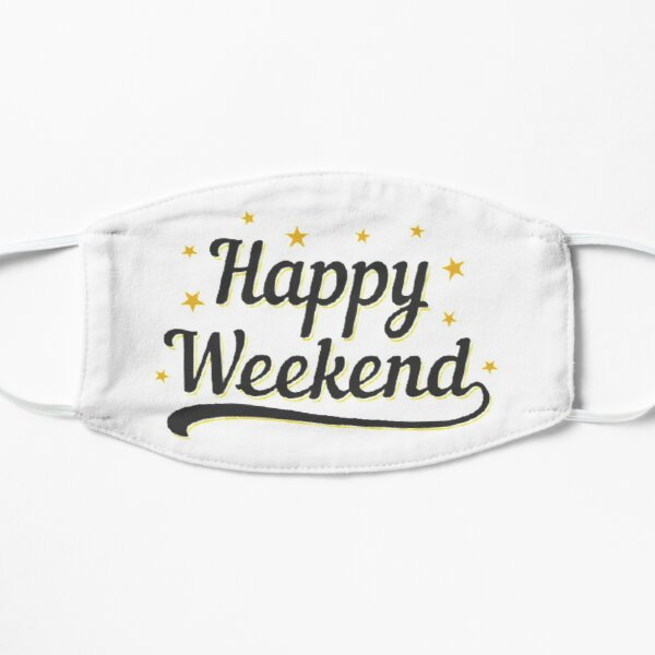 Happy Weekend Happy Friday! Let the weekend begin The Best Weeknd Flat Mask RB3006 product Offical Mac Miller Merch